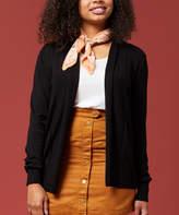 Black Colorblock Shawl-Collar Open Cardigan S Lauren Jeans Co