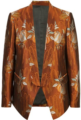 Triple RRR jacquard blazer