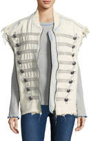 Free People Women's Embroidery Officer Denim Vest