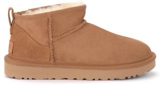 UGG Classic Ultra Mini Ankle Boot Made Of Leather-colored Suede