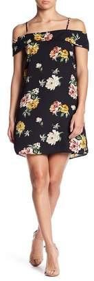 Socialite Ruffle Cold Shoulder Dress