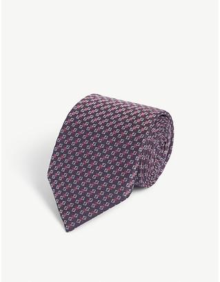 Fendi FF logo print silk tie