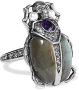 Alexander McQueen Silver-tone Multi-stone Ring - 11