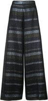 Christian Siriano lurex stripe palazzo pants - women - Silk/Cotton/Acrylic/Metallic Fibre - 4