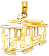 Macy's 14k Gold Charm, Cable Car Charm