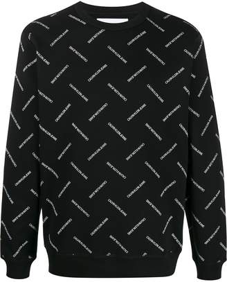 Calvin Klein Jeans all-over logo print sweatshirt