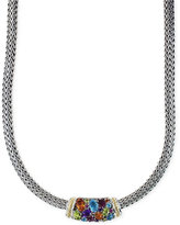 Effy Multistone Necklace in Sterling Silver and 18k Gold (4-2/5 ct. t.w.)