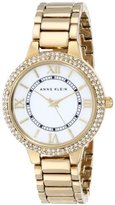 Anne Klein Women's AK/1498MPGB Swarovski Crystal-Accented Watch