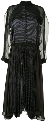 Sacai Pleated Sheer Dress