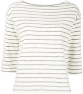 By Malene Birger striped jersey top - women - Cotton - XXS