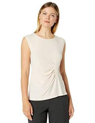 Calvin Klein Women's WRAP Sleeveless TOP with Hardware