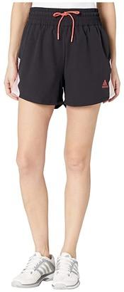 adidas Pull-On Color Block Shorts (Black) Women's Shorts