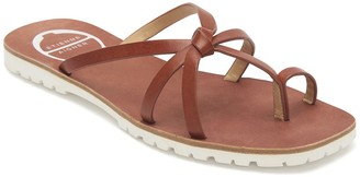 Etienne Aigner Malta Strappy Leather Flip Flop