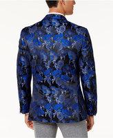 Tallia Men's Big & Tall Slim-Fit Blue/Black Floral Pattern Dinner Jacket