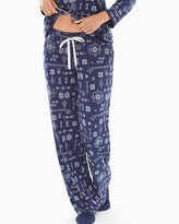 Soma Intimates Pajama Pants Alpine Stitch Navy