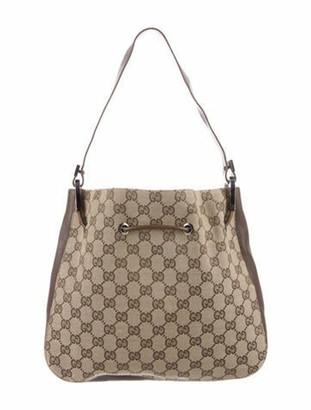 Gucci GG Canvas Bucket Bag Brown