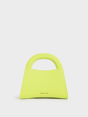 Charles & Keith Patent Double Top Handle Handbag