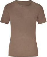 Majestic Biscuit Round Neck Linen T-Shirt