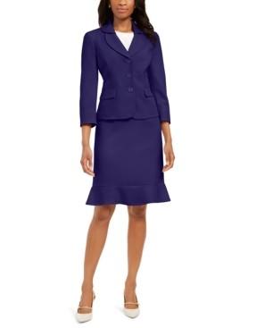Le Suit Flared-Hem Skirt Suit