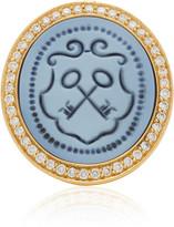 Ashley Mccormick Ashley McCormick 18K Gold, Agate And Diamond Ring