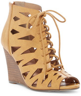Restricted Shortcut Lace-Up Wedge Sandal