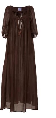 Thierry Colson Eva Cotton-Blend Maxi Dress