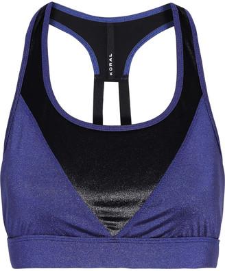 Koral Coya Shantung Two-tone Tech-jersey Sports Bra