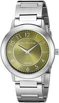 Calvin Klein Women's Quartz Watch with Green Dial Analogue Display and Silver Stainless Steel Bracelet K8713150