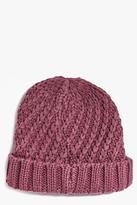 Boohoo Kayla Chunky Knit Beanie Hat