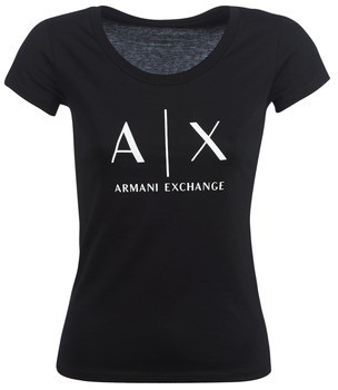 Armani Exchange HELBATANTE women's T shirt in Black