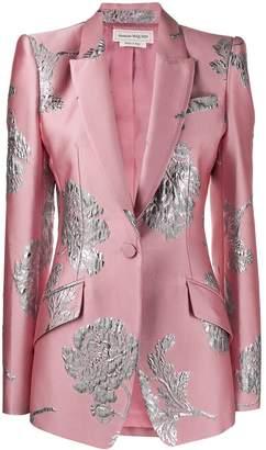 Alexander McQueen floral brocade blazer