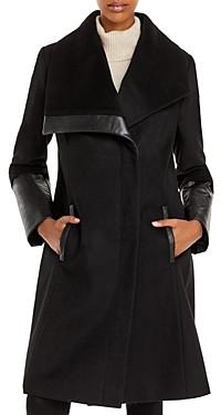 Via Spiga Asymmetrical Wing Collar Coat