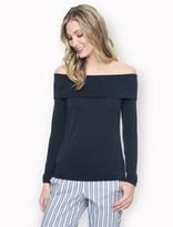 Splendid Sandwash Jersey Off Shoulder Tunic