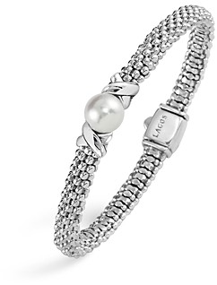 Lagos Luna Sterling Silver Caviar Cultured Freshwater Pearl Bracelet