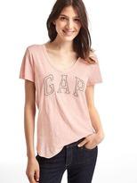Gap Bead embellished logo tee