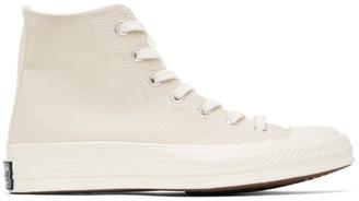 Converse Beige Chuck 70 Hi Sneakers