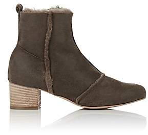 Barneys New York WOMEN'S FAUX-SHEARLING ANKLE BOOTS - SAND SIZE 5