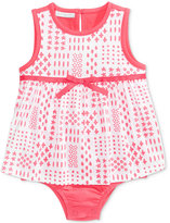 First Impressions Patchwork-Print Cotton Skirted Romper, Baby Girls (0-24 months), Created for Macy's