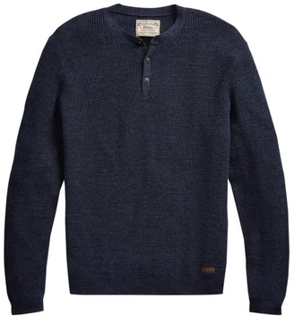 Polo Ralph Lauren Long-Sleeve Cotton Henley Sweater