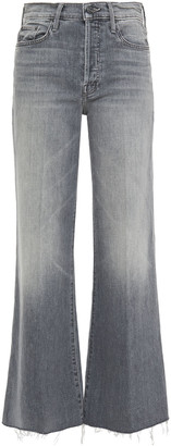 Mother Faded High-rise Wide-leg Jeans