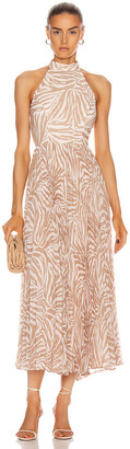 Zimmermann Sunray Picnic Dress in Sand Zebra | FWRD