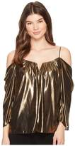 Nicole Miller Foiled Glitter Schuler Top Women's Clothing