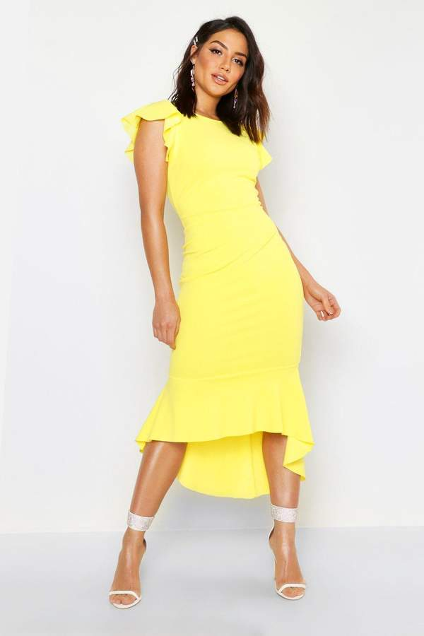 ee6b2ca2980c boohoo Yellow Evening Dresses - ShopStyle