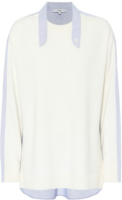 Tibi Wool-blend shirt sweater