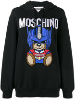 Moschino Transformer Teddy hoodie - women - Cotton/Polyester/Polyurethane - 38