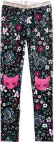 Jessica Simpson Glitter-Patch Floral-Print Leggings, Big Girls (7-16)
