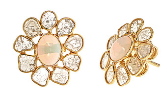 Forever Creations Usa Inc. Forever Creations 18K Over Silver 3.70 Ct. Tw. Diamond & Opal Earrings