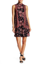 Angie Mock Neck Print Swing Dress