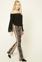 Forever 21 FOREVER 21+ Abstract Paisley Flared Pants
