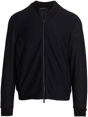 Giorgio Armani Mesh-Knit Bomber Jacket